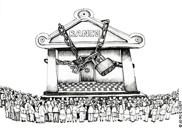El hampa de grandes bancos en acción