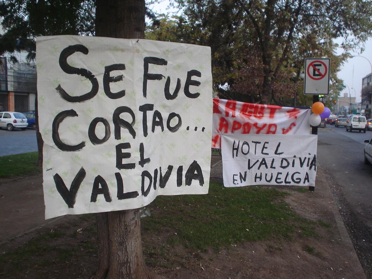 El Hotel Valdivia cumple seis días en huelga