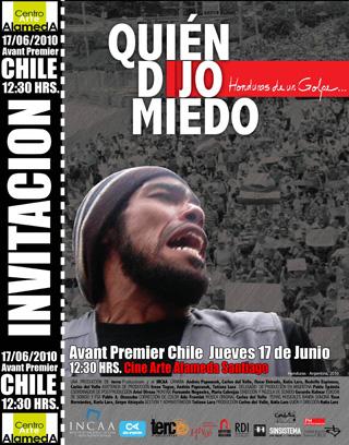 Avant premier de «¿Quién dijo miedo?», documental sobre el golpe en Honduras