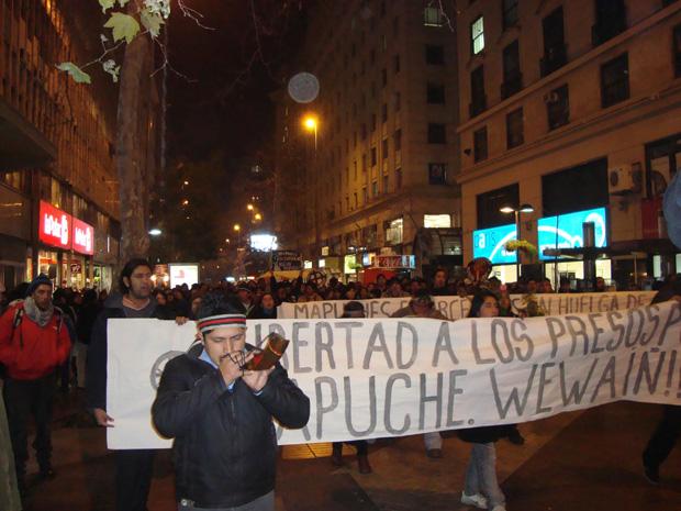 Marchas Mapuche en Valdivia, Temuco, Concepción, Santiago y Valparaíso