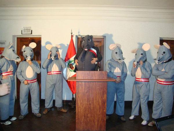Ratas se han tomado el gobierno del Perú