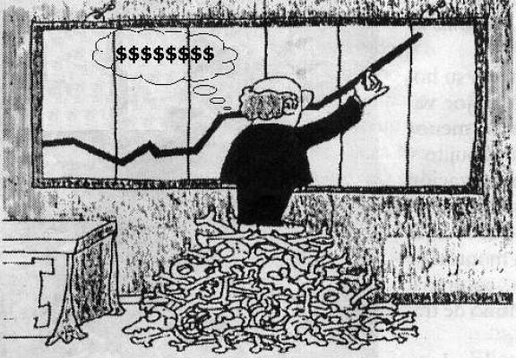 Ustedes los capitalistas neoliberales son los terroristas