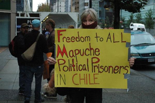 Solidaridad con los PP Mapuche desde Vacouver, Canadá