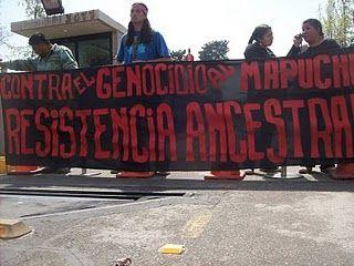 Estudiantes universitarios se movilizan en apoyo de los presos políticos mapuche