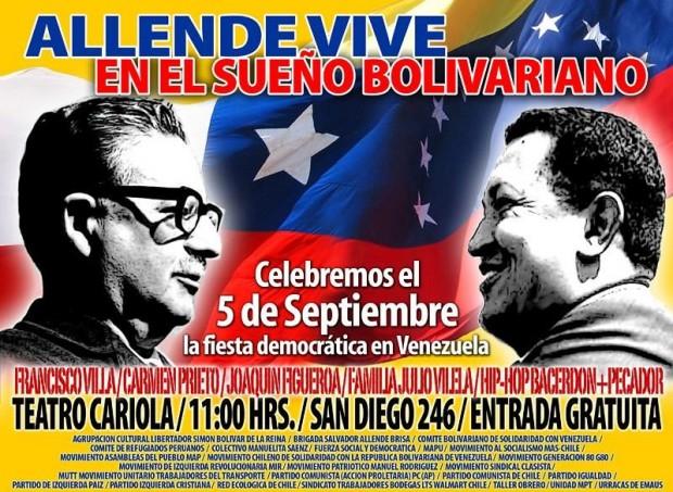 Venezuela bolivariana homenajea a Allende en Teatro Cariola