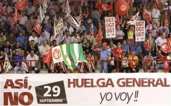 Preparan huelga general para finales de septiembre en España