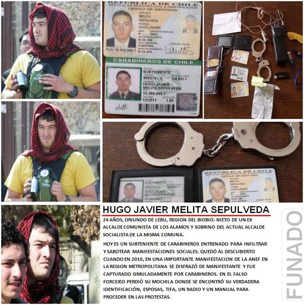 Identifican a carabinero infiltrado en manifestación de la Anef