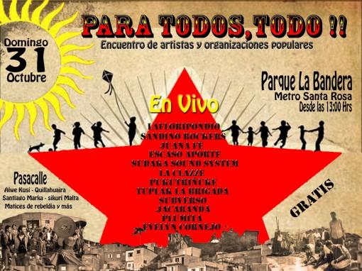 Evento gratuito en Parque La Bandera se realiza desde el medio día