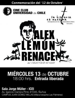 "Presentan documental ""Alex Lemún Renace"""