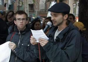 Marchan contra el Día de la Hispanidad en Barcelona