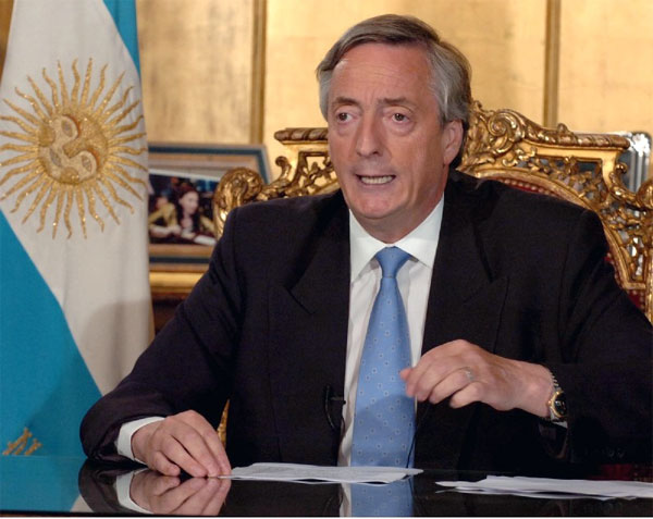 Muere Néstor Kirchner ex presidente de Argentina