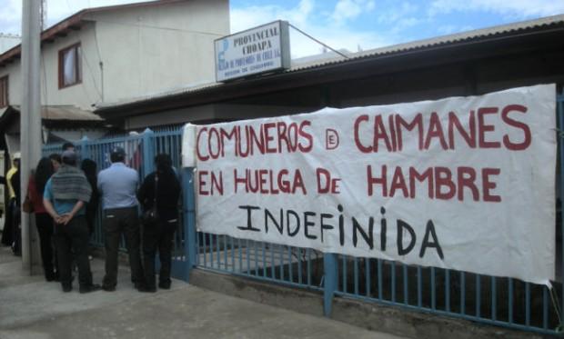 68 días de huelga de hambre por Caimanes