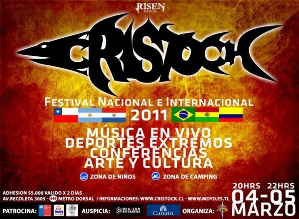 Nueva versión de Festival Cristock este viernes y sábado en Santiago