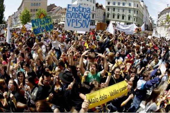 Eslovenos dicen no a la jubilación a los 65 años