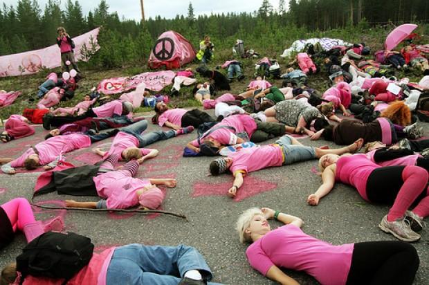 Activista chileno detenido en acción antimilitarista en Suecia