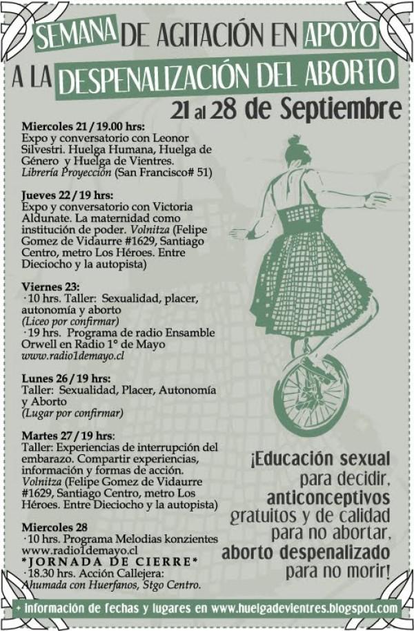 Del 21 al 28: Semana de agitación por la despenalización del aborto