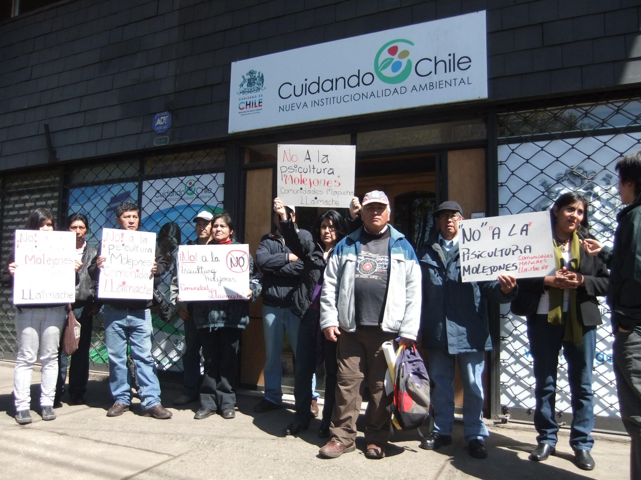 "Comunidades mapuches se oponen a proyecto ""Piscicultura Molejones"""