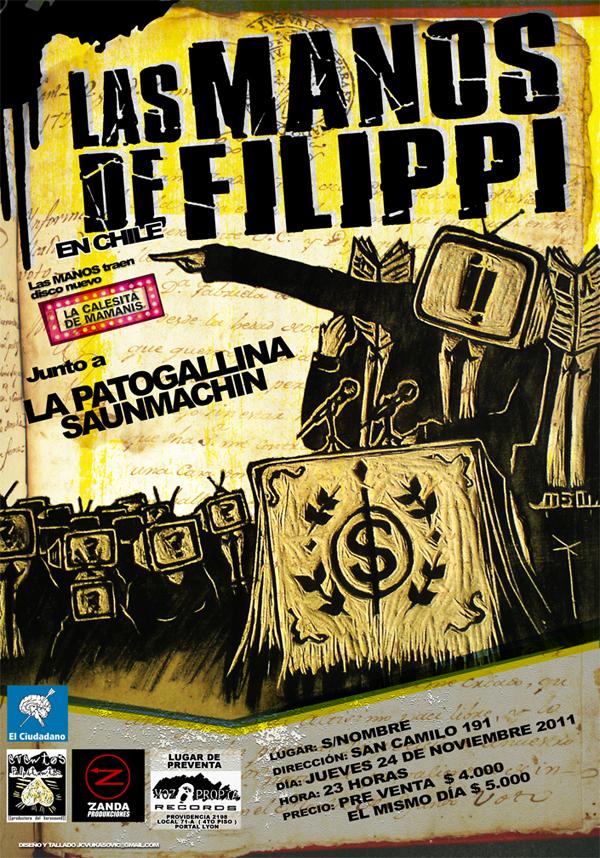 """""""Los únicos, los mejores"""", Las Manos de Filippi en Chile"""