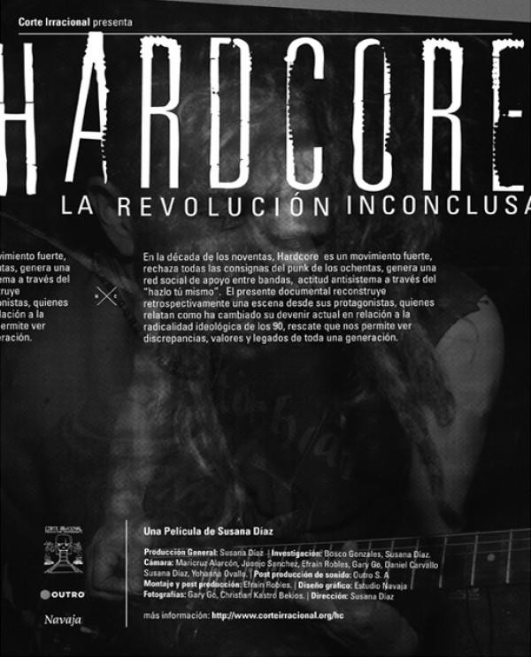 """Documental """"Hardcore"""" y conversatorio este jueves en la librería El Ciudadano"""