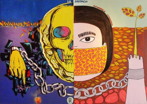 Grupo Respeto, arte callejero desde Osorno: Este es un lenguaje diferente para expresar la rabia que sentimos
