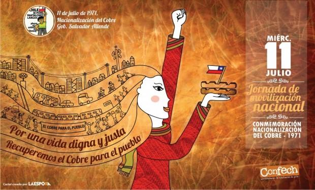 Llaman a movilización en todo Chile a 41 años de la nacionalización del cobre de Salvador Allende