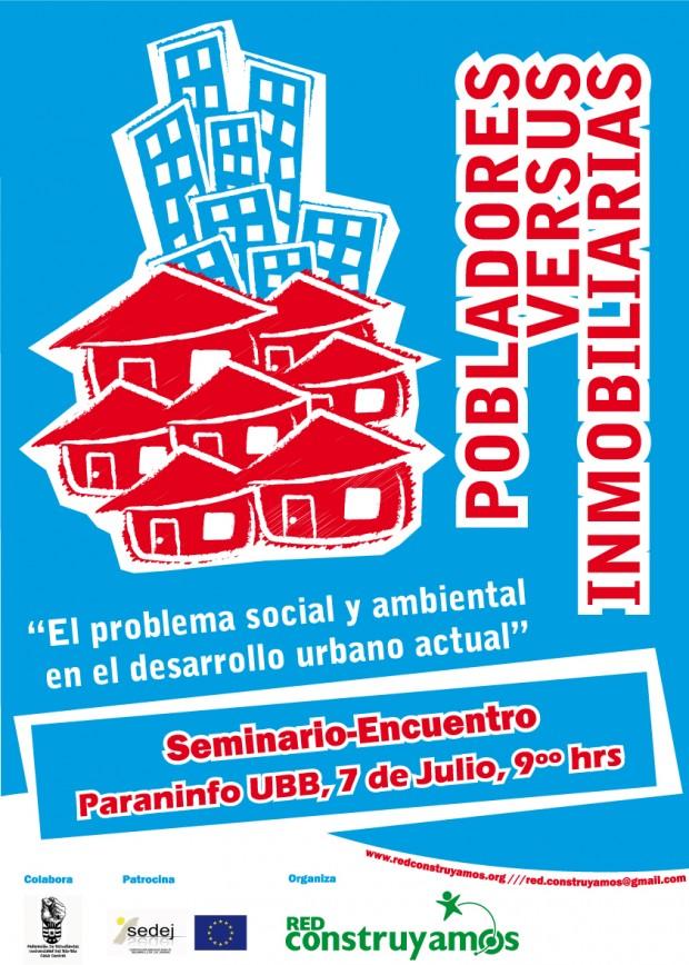 """Red Construyamos de Concepción invita este sábado a encuentro """"Pobladores versus Inmobiliarias"""""""