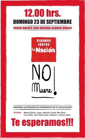 Organizaciones sociales y trabajadores de la comunicación convocan acto «La Nación no muere»