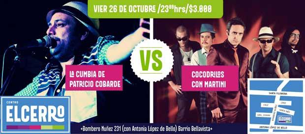 La Patricio Cobarde y Cocodrilos con Martini se enfrentan este viernes (Regalamos entradas)