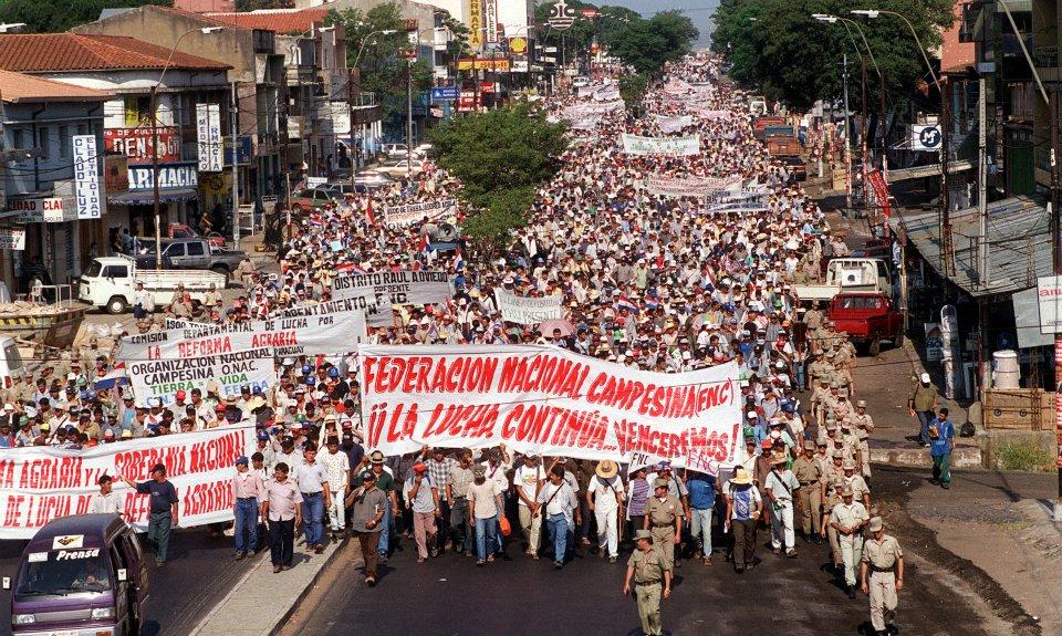 Paraguay: campesinos llegan a Asunción por la XX Marcha Nacional del Campesinado Pobre
