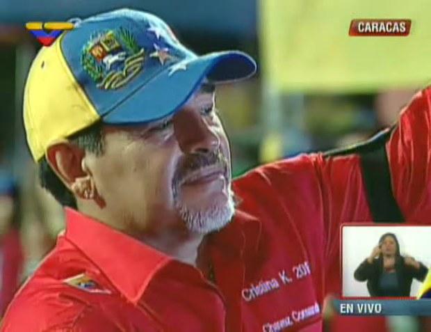 Maradona entregó su apoyo a Maduro y saluda a la Venezuela bolivariana