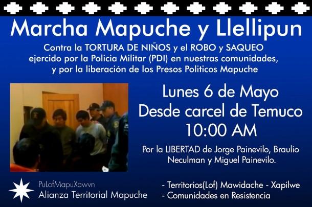 Temuco: Llamado a manifestarse tras allanamiento a Trapilwe Mawizache