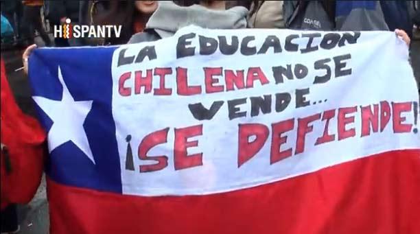 Video de la marcha estudiantil del martes 28 de mayo por Hispan TV