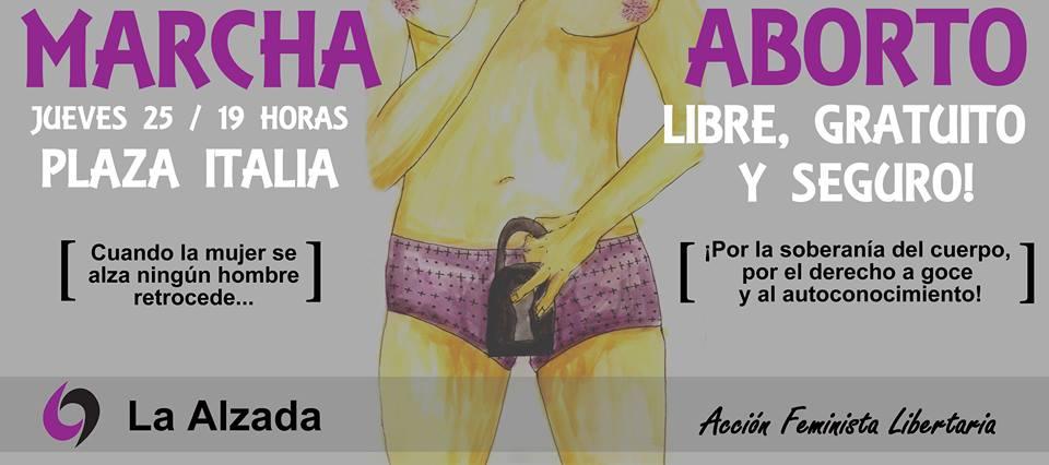Agrupación feminista invita a marchar por el #AbortoLegal este jueves 25