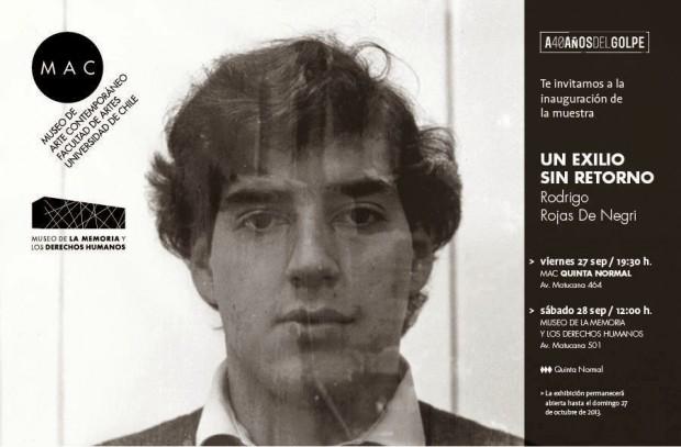 Primera exposición fotográfica de Rodrigo Rojas De Negri