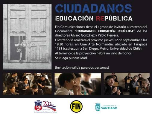 """Documental """"Ciudadanos. Educación República"""""""
