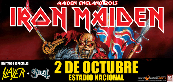 IRON MADEN + SLAYER + GHOST EN CHILE