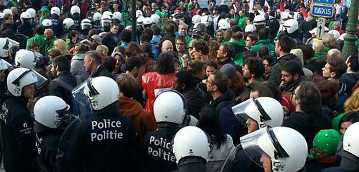 240 detenidos por protestas contra TLC  entre Estados Unidos y la Unión Europea