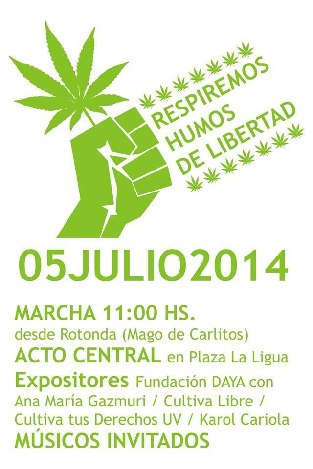 Marcha por el Autocultivo y Despenalización de la Cannabis