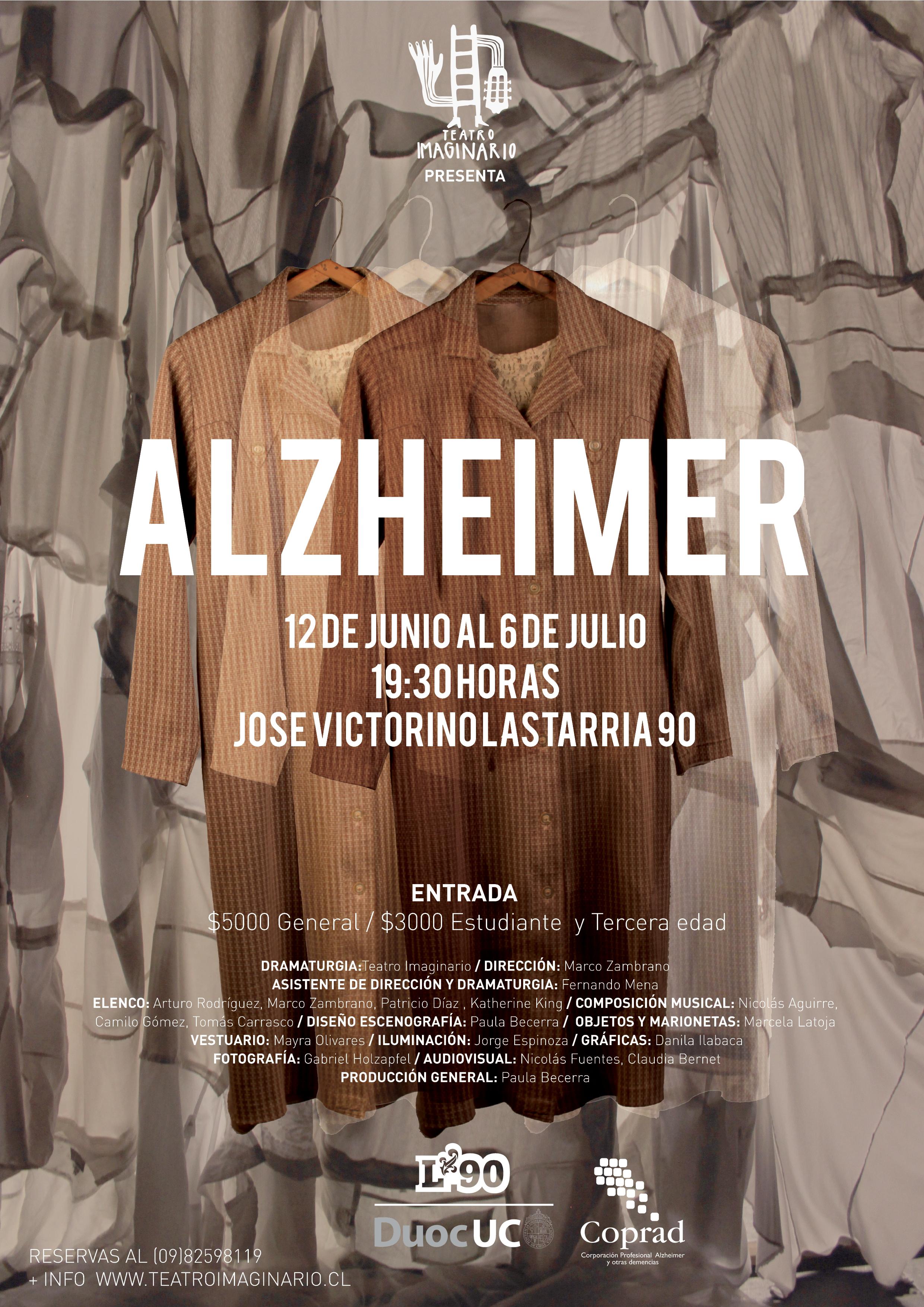 Llega a Lastarria 90 obra de teatro que relata la enfermedad del olvido