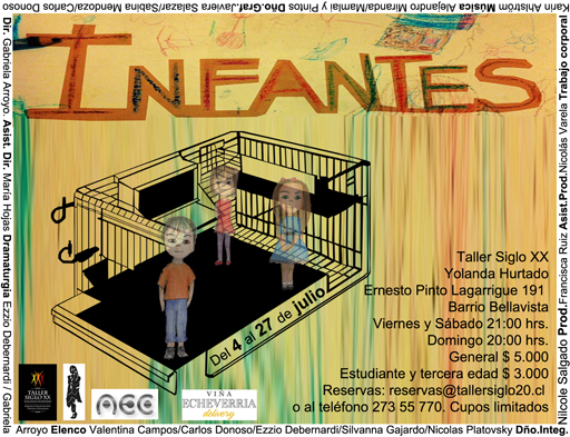 Teatro La Chimba presenta su obra «Infantes»