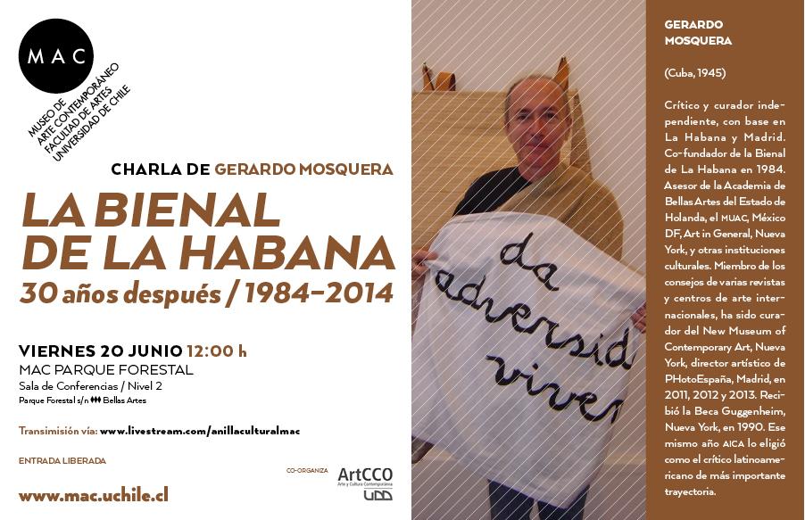 Gerardo Mosquera recuerda los inicios de la bienal de La Habana en charla en MAC parque Forestal