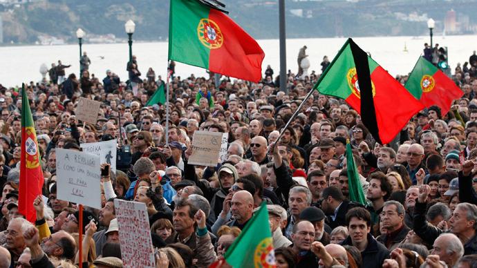 Manifestaciones en Lisboa contra los recortes del Gobierno y la Troika