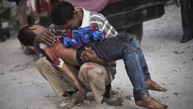 La guerra en Siria deja 5.300 muertos en julio y 170.000 desde que comenzó el conflicto en 2011
