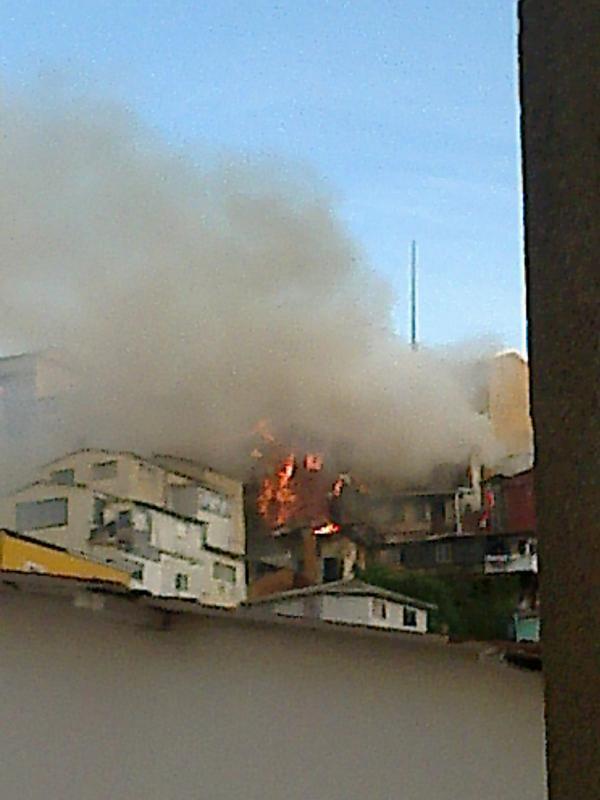 Incendio en el Cerro Mariposa de Valparaíso