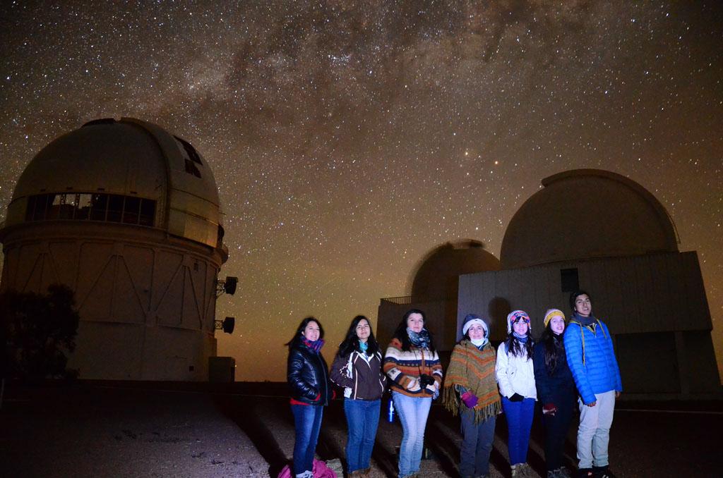 Niños de la región del Biobío vivieron noches de observación en Observatorios Campanas y Tololo