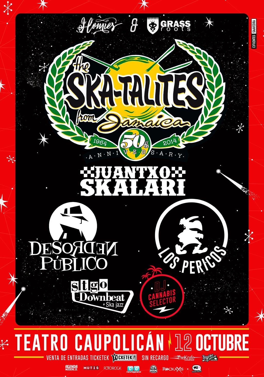 50 años The Skatalites: se suman los Pericos y se traslada al Teatro Caupolicán por lleno total de M100