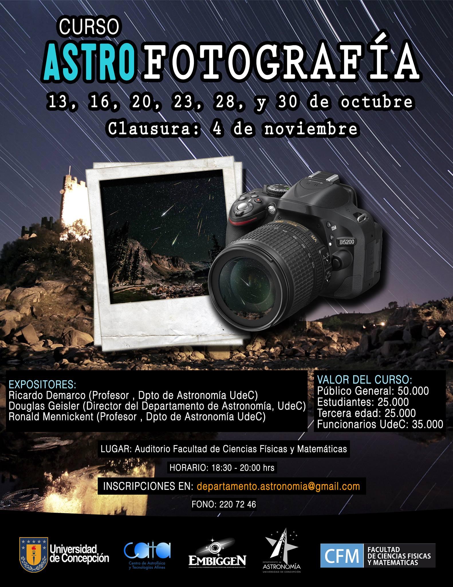Curso de Astro-fotografía para aficionados