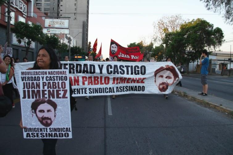 Marcha por el esclarecimiento de la muerte del Dirigente sindical  Juan Pablo Jiménez