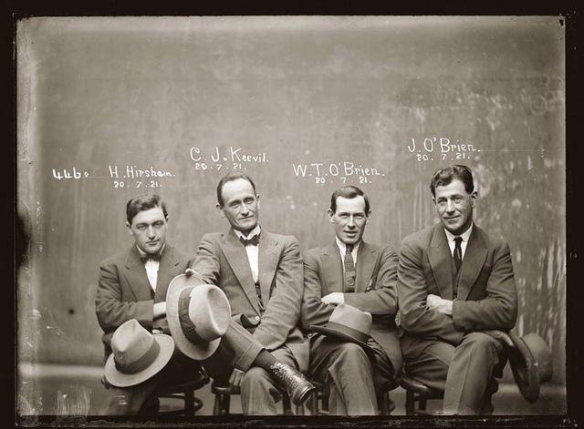 Mugshots, criminales de los años veinte