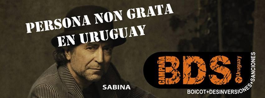 Joaquín Sabina es declarado Persona Non Grata en Uruguay